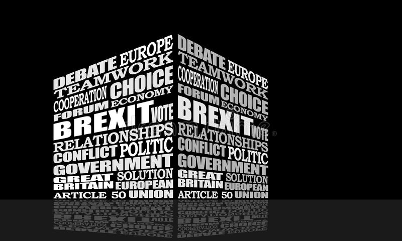 Saída de Grâ Bretanha da União Europeia ilustração royalty free