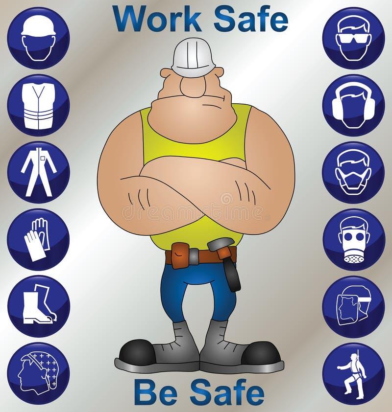 Saúde & segurança da construção ilustração do vetor
