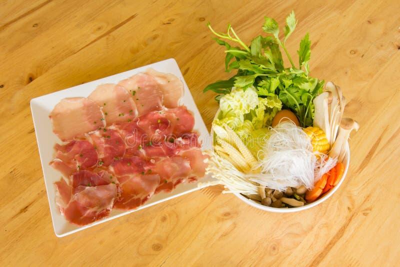 Saúde da carne e do vegetal imagem de stock