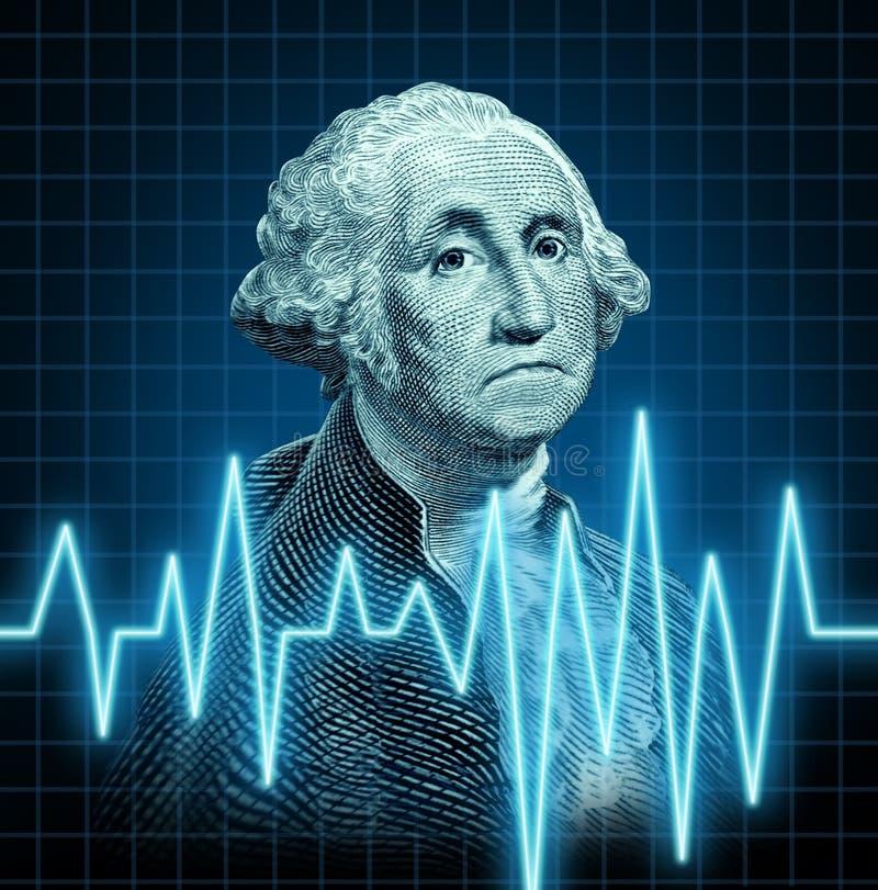 Saúde da economia de E.U. ilustração royalty free
