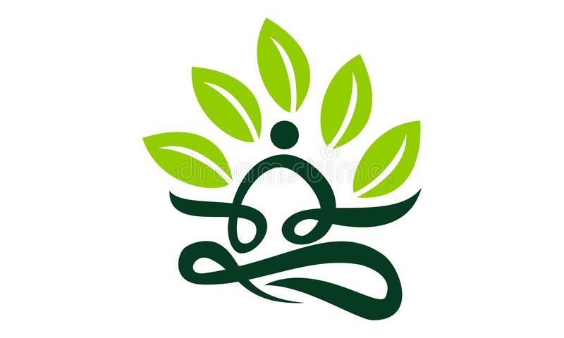 Saúde da ioga da massagem dos termas ilustração royalty free