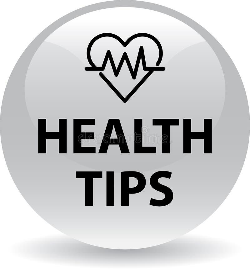 A saúde derruba o botão ilustração stock
