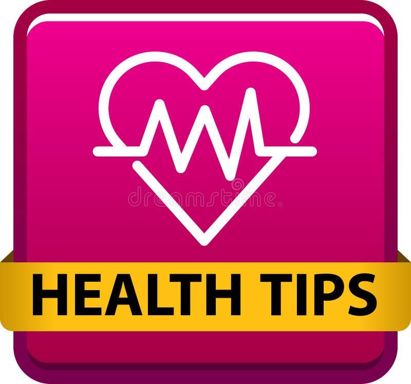 A saúde derruba o botão ilustração royalty free