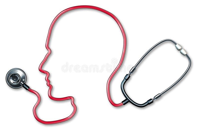 Saúde do cérebro humano ilustração do vetor
