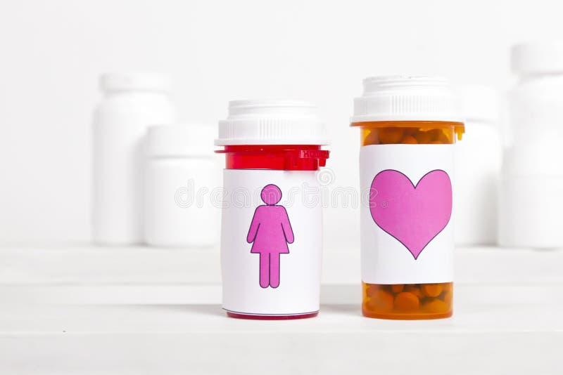 Saúde do coração das mulheres imagem de stock royalty free