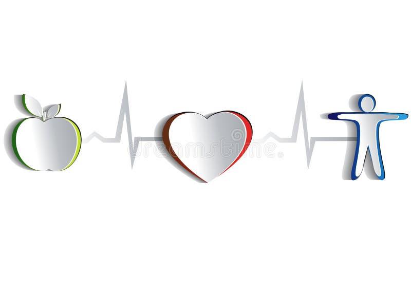 Saúde do coração, projeto de papel ilustração royalty free