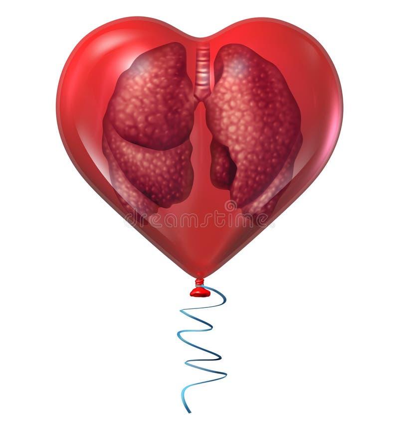 Saúde do pulmão ilustração do vetor