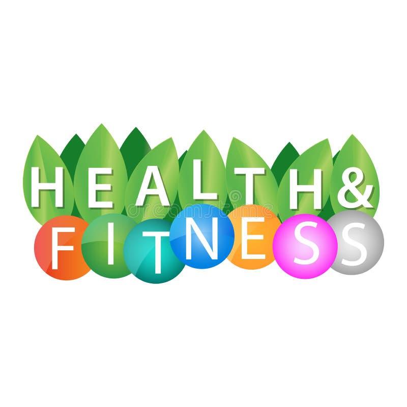 Saúde e aptidão ilustração stock