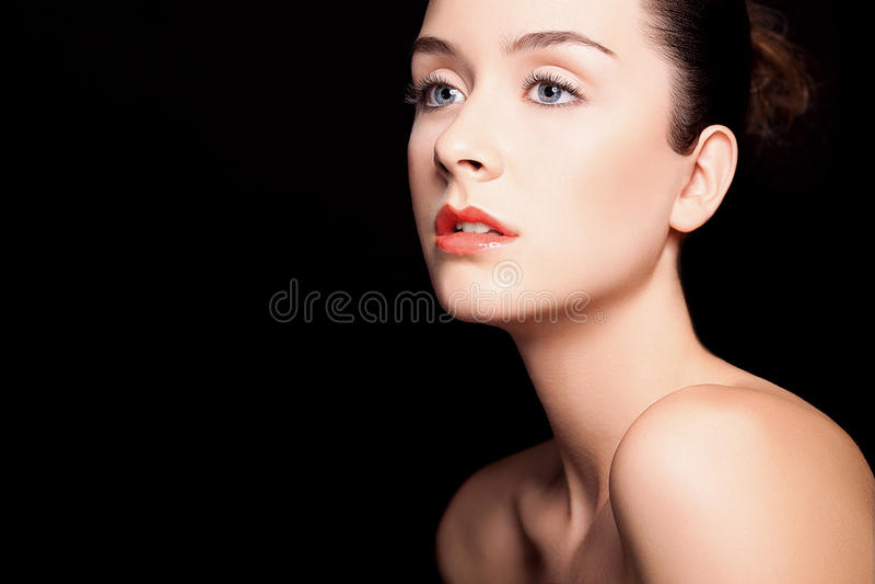 Saúde e beleza, cosméticos e composição. Retrato imagens de stock