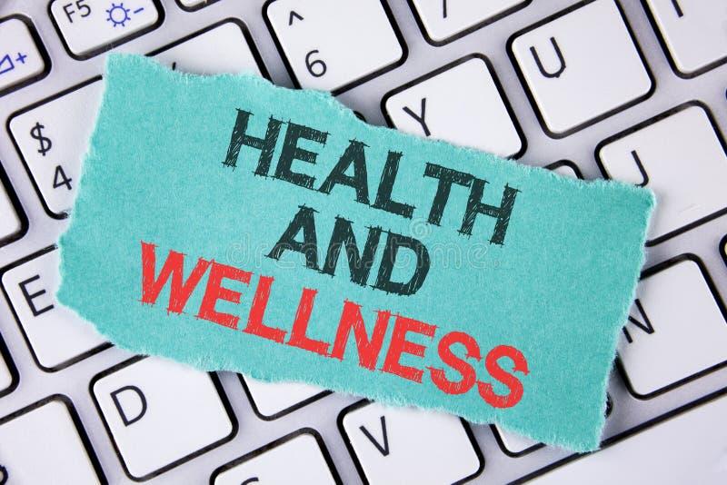Saúde e bem-estar da escrita do texto da escrita E foto de stock royalty free