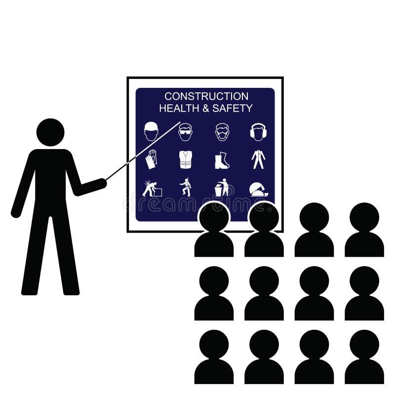 Saúde e segurança da construção ilustração do vetor