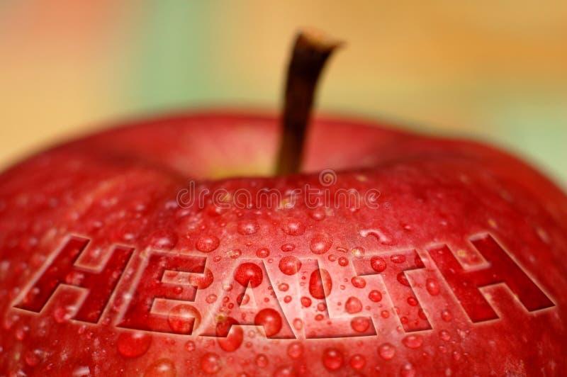 Saúde - maçã molhada fotografia de stock