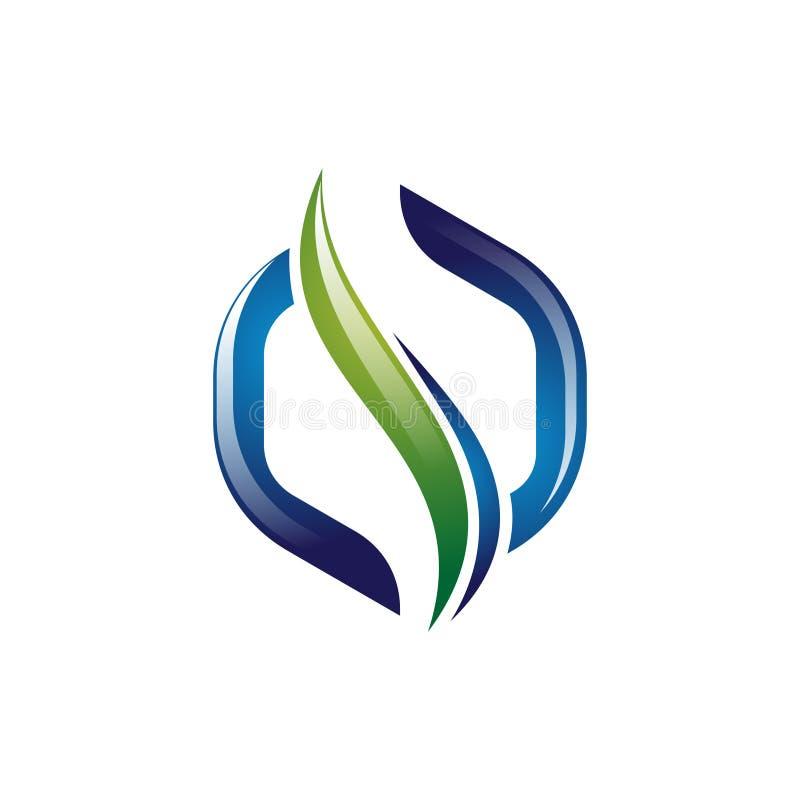saúde moderna Logo Template da espinha do sumário do hexágono 3D ilustração stock