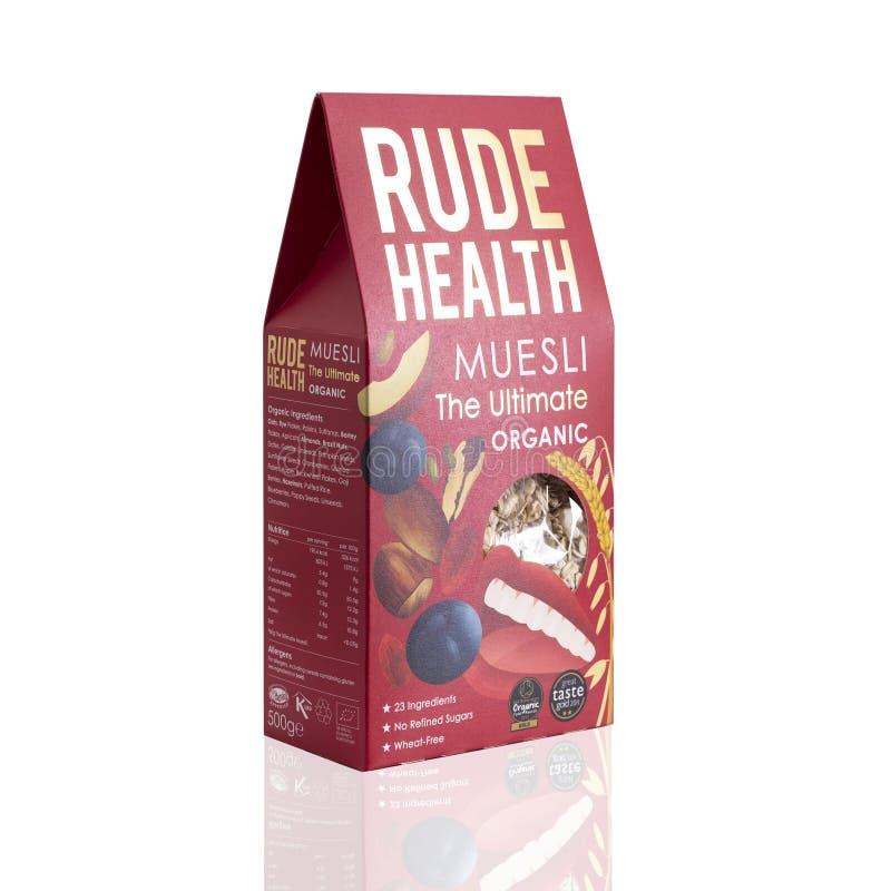 Saúde rude Muesli, o orgânico final, trigo Muesli livre imagens de stock royalty free