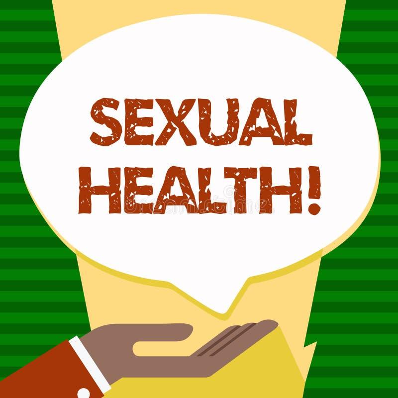 Saúde sexual do texto da escrita Conceito que significa o cuidado saudável do sexo dos hábitos da proteção do uso da prevenção do ilustração do vetor
