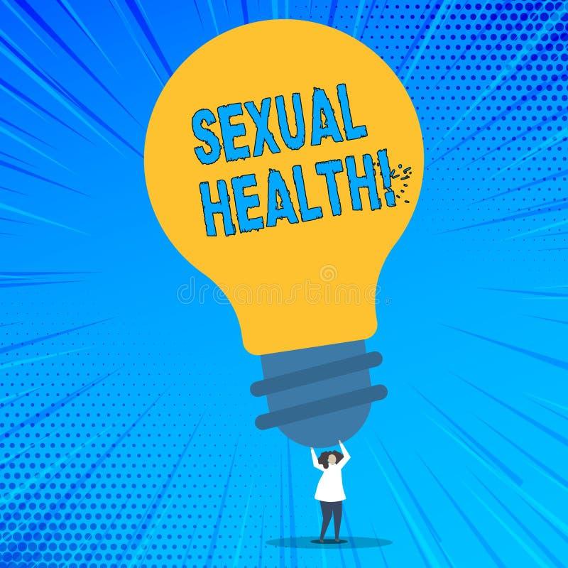 Saúde sexual do texto da escrita da palavra Conceito do negócio para o cuidado saudável do sexo dos hábitos da proteção do uso da ilustração royalty free