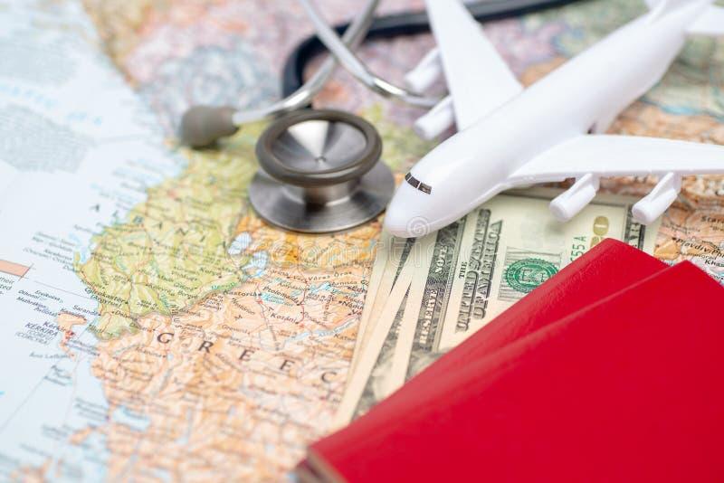 Saúde/turismo médico ou curso estrangeiro do seguro fotos de stock royalty free