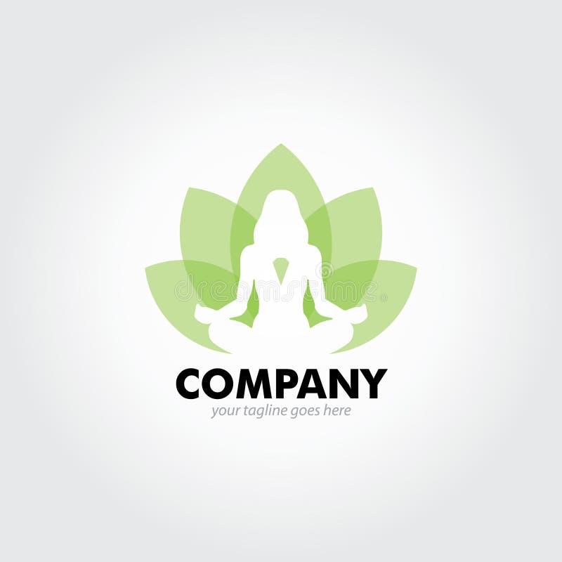 Saúde verde Lotus Logo ilustração royalty free