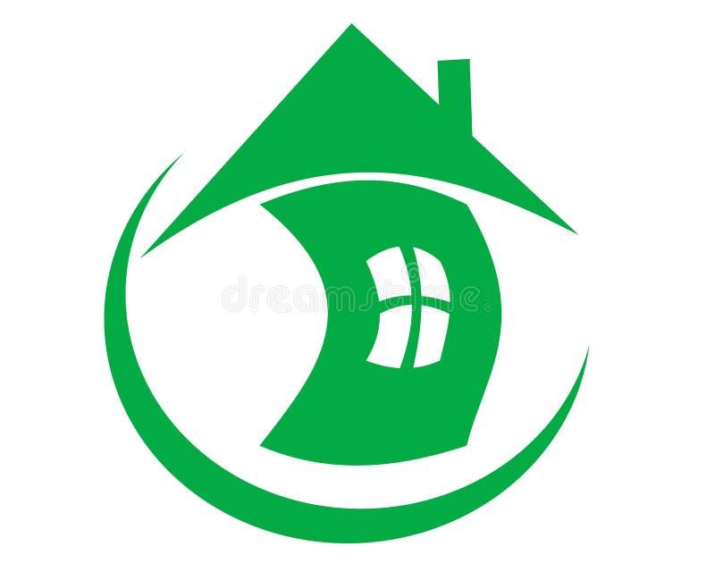 Saúdes ao domicílio de tiragem do logotipo em um globo ilustração royalty free