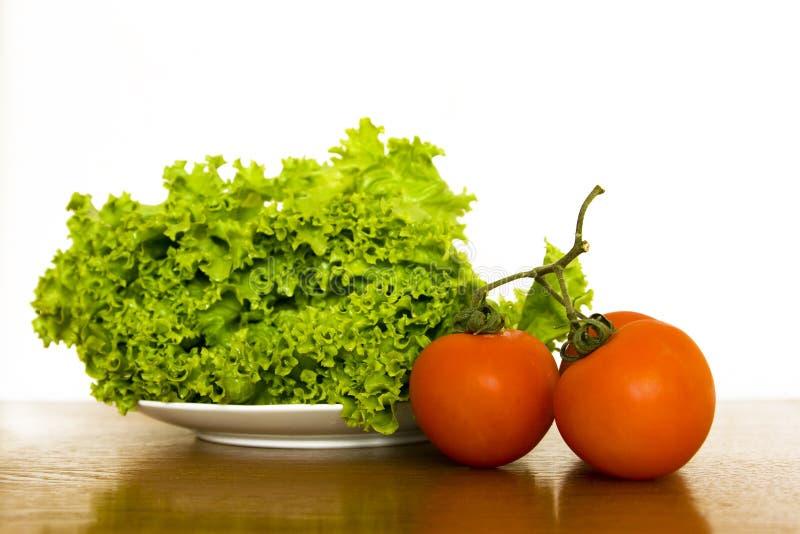 Sałata i pomidory obrazy royalty free