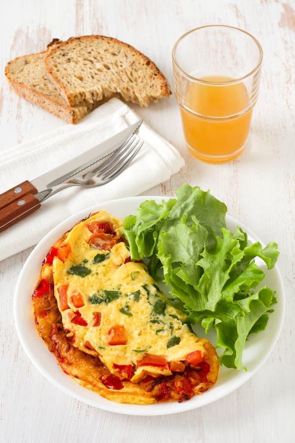 sałata omlet obraz royalty free