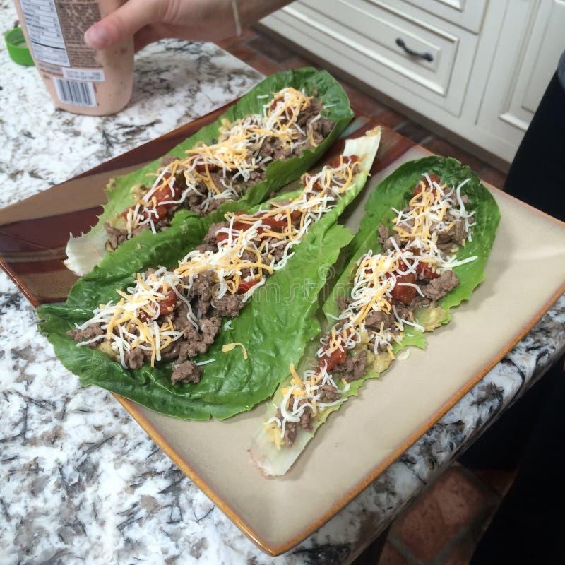 Sałata opakunku Tacos zdjęcia stock
