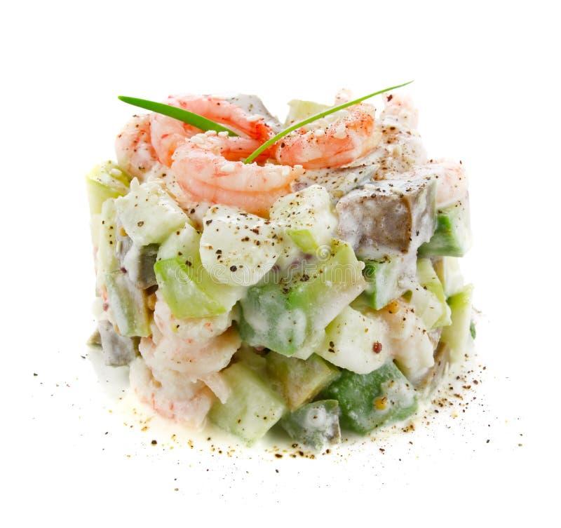 Download Sałatka Krewetkowy Avocado I Jabłko Zdjęcie Stock - Obraz złożonej z biały, sałatka: 28971374