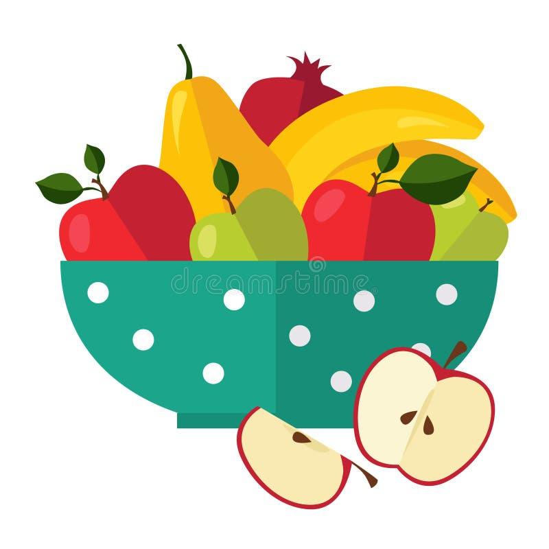Sałatka Od owoc i jagod ilustracji