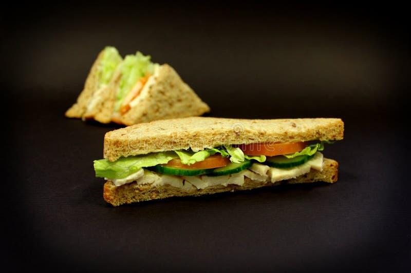 Sałatkowa kanapka fotografia stock