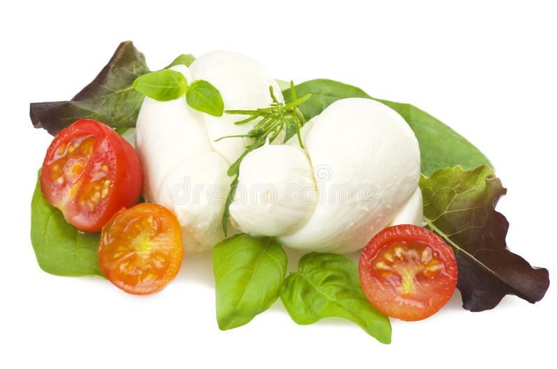 Sałatkowa mozzarella i pomidory zdjęcia stock