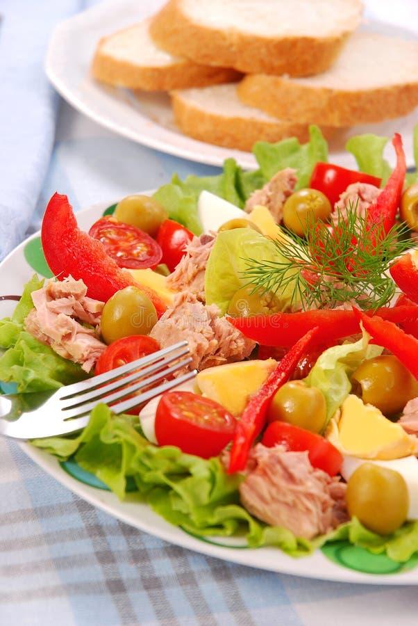 sałatkowy tuńczyk obraz stock