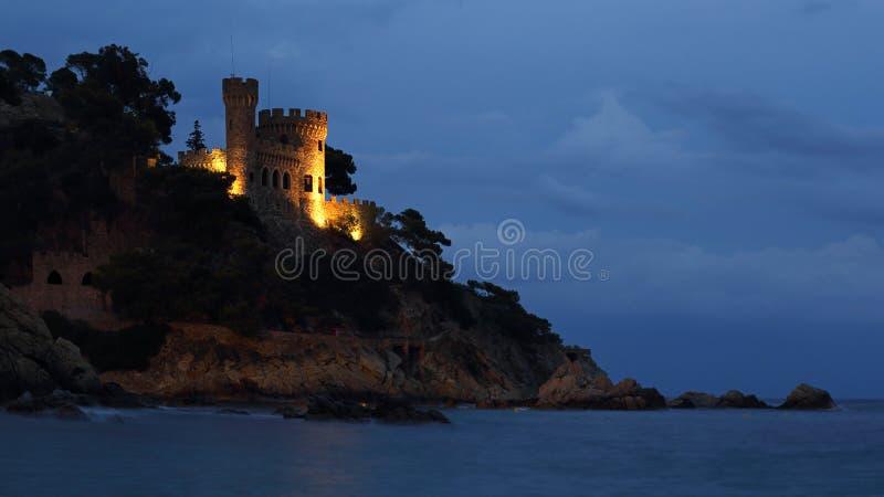 Sa Caleta海滩和D ` En在略雷特德马尔,肋前缘Brava,西班牙防御 库存照片