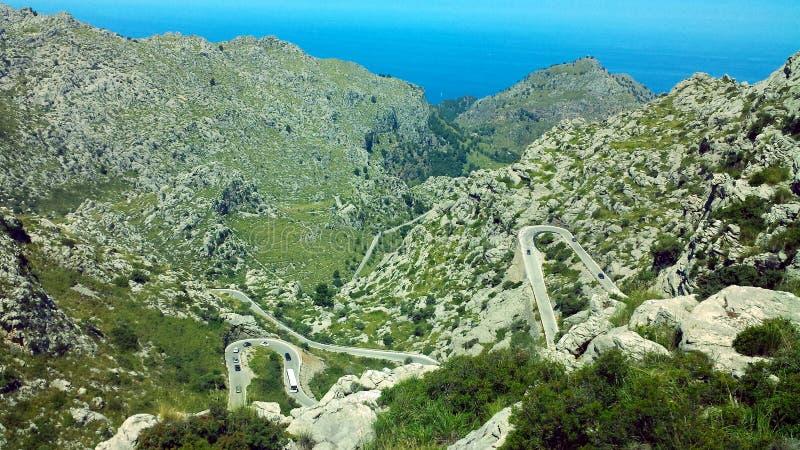 Sa Calobra droga, Majorca Mallorca, Hiszpania zdjęcie stock