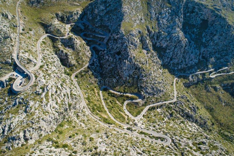 Sa Calobra droga, Mallorca wyspa, Hiszpania obraz stock