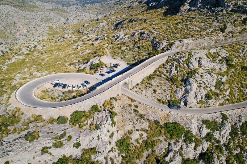 Sa Calobra droga, Mallorca wyspa, Hiszpania obrazy royalty free