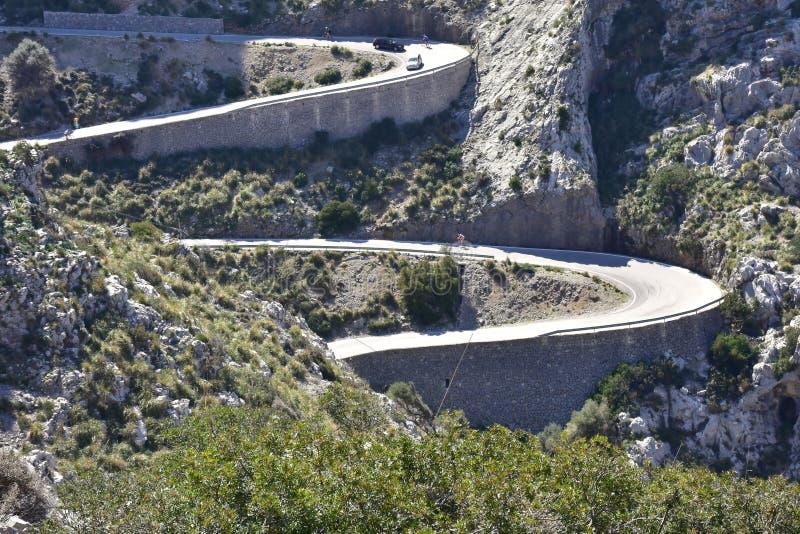 Sa Calobra, Majorca wyspa, Hiszpania fotografia royalty free