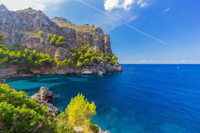 Sa Calobra na Mallorca wyspie, Hiszpania fotografia royalty free
