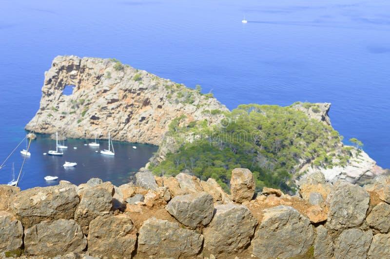 Sa Foradada in Mallorca royalty-vrije stock fotografie