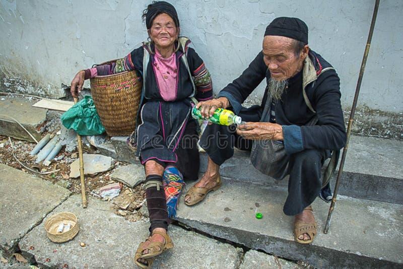 Sa Pa的人们,越南 图库摄影