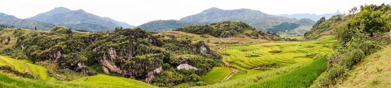 Sa Pa的,越南美好的全景 免版税图库摄影