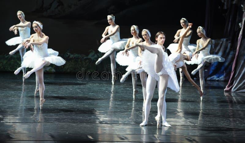 Sa scène navrée de bout d'Ojta-The de lac swan de Lac-ballet de cygne images libres de droits