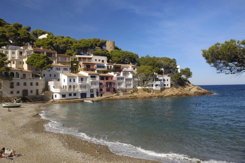 Sa tuńczyka plaża w Begur, Costa Brava, Girona, Catalonia, Hiszpania obraz royalty free