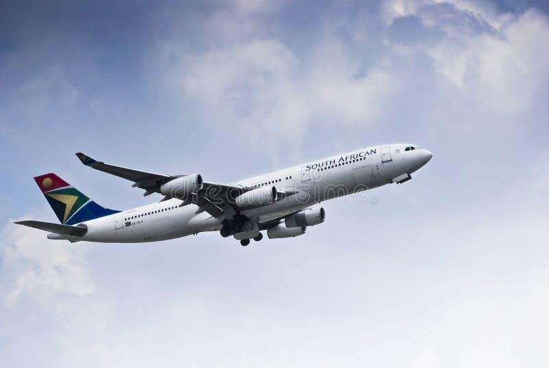 SAA Airbus A340-211 - ZS-SLA immagine stock libera da diritti