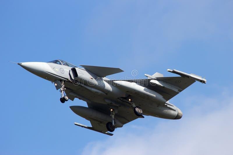 SAAB J-39 Gripen 图库摄影