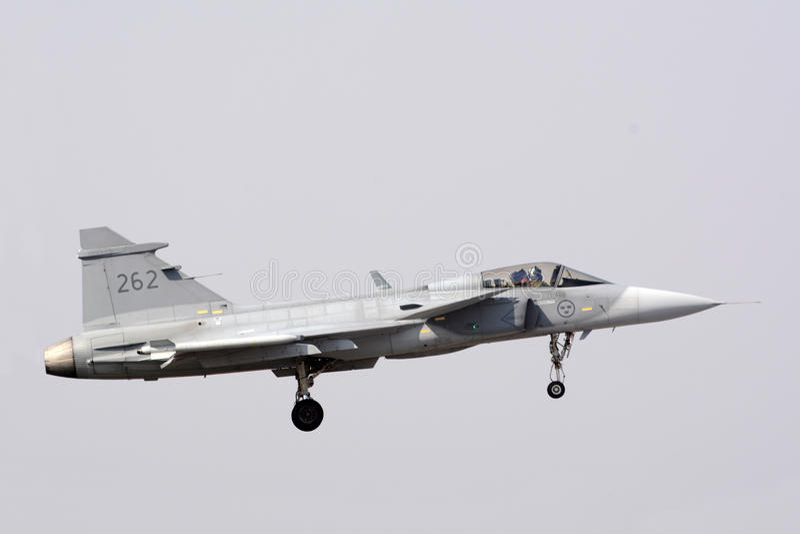 Saab JAS 39 Gripen imagen de archivo libre de regalías