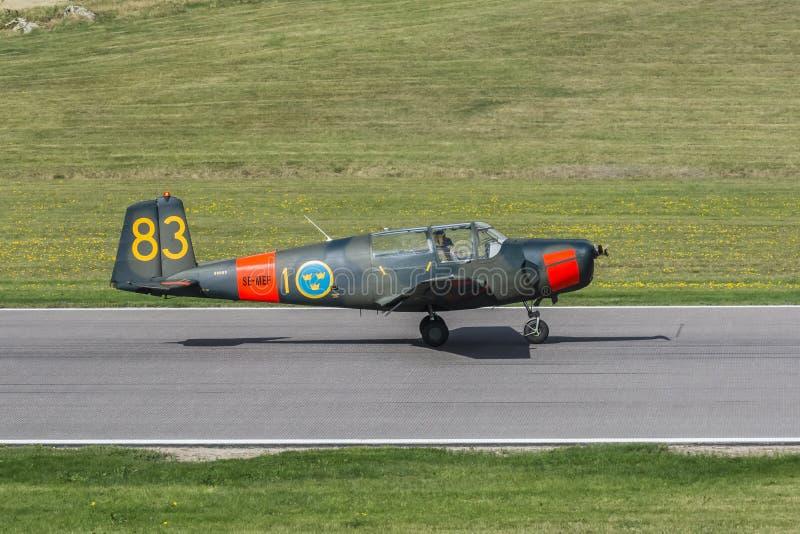 Saab 91 Safir-enkel gelande trainervliegtuigen stock fotografie