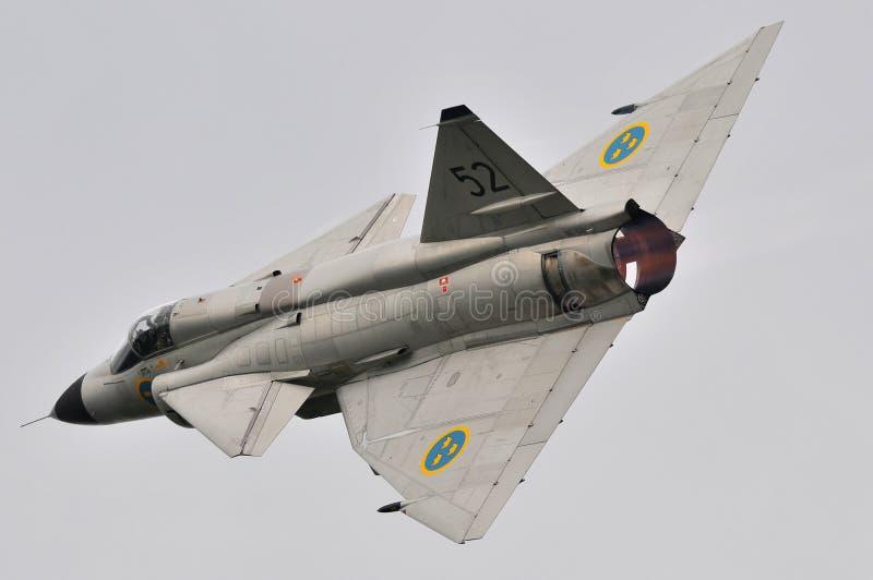 SAAB 37 Viggen royalty-vrije stock fotografie