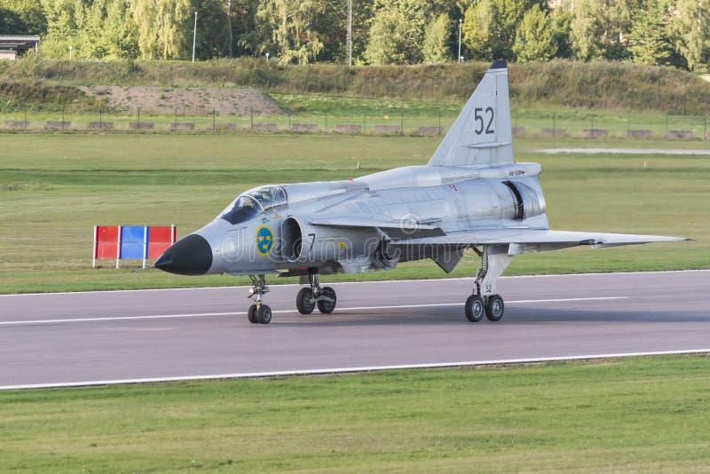 SAAB 37 Viggen-enkel gelande vechtersvliegtuigen royalty-vrije stock fotografie