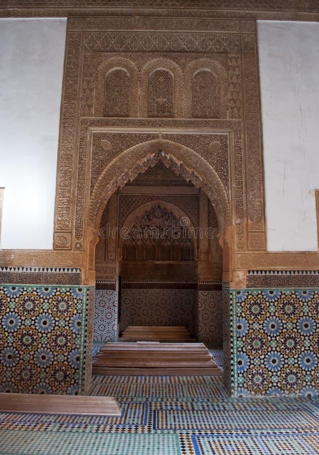 Saadiens坟茔在马拉喀什。 摩洛哥。 免版税库存照片