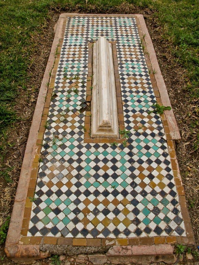 Saadian马赛克坟茔在马拉喀什。 库存图片